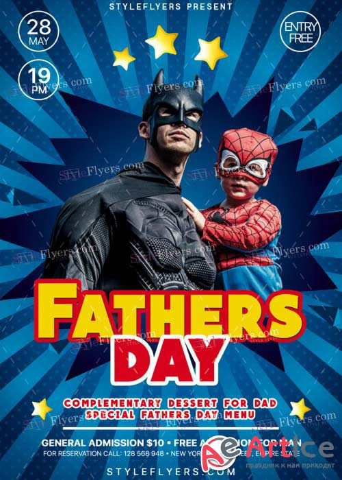 Fathers Day V15 PSD Flyer Template