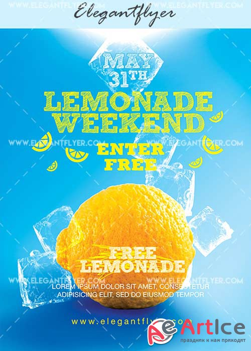 Lemonade Weekend V18 Flyer PSD Template + Facebook Cover