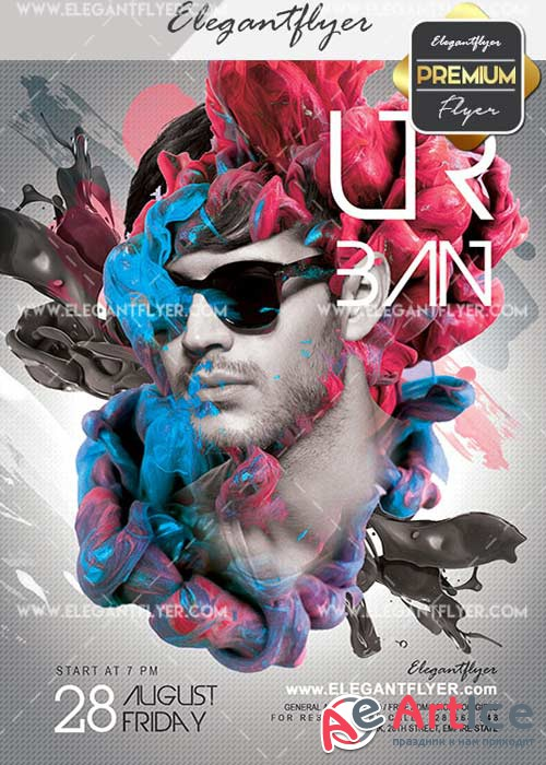 Urban Party V24 Flyer PSD Template + Facebook Cover