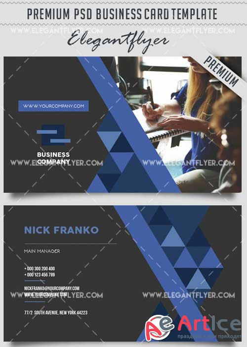 Business Company V36 Business Card Templates PSD