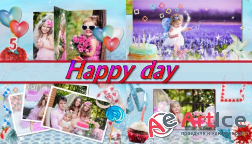 Happy day  - project for ProShow Producer