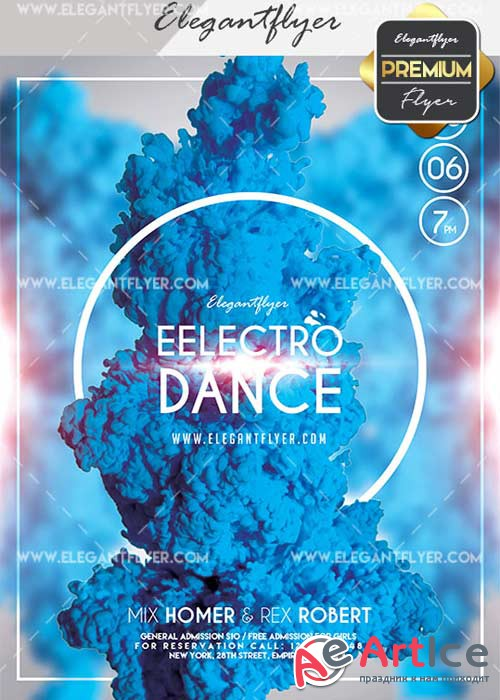 Electro Dance V29 Flyer PSD Template + Facebook Cover