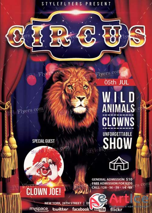 Circus V11 Premium PSD Flyer Template