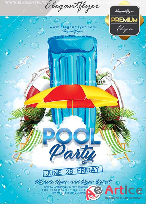 Pool Party V144 Flyer PSD Template + Facebook Cover