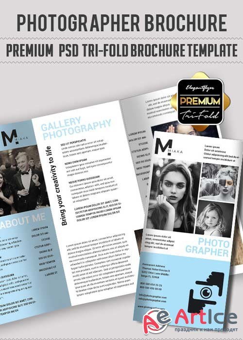 Photography V29 Premium Tri-Fold PSD Brochure Template