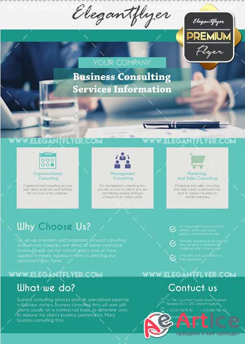 Business Conculting V31 Flyer PSD Template + Facebook Cover