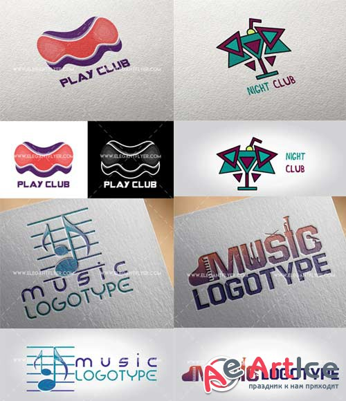Music club V1 Premium Stock Illustration