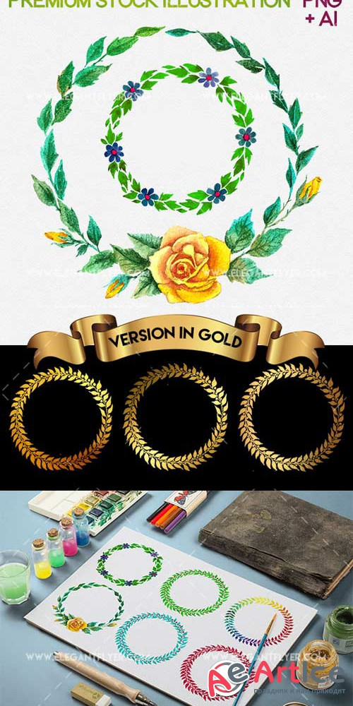 Wreath V1 Premium Stock Illustration