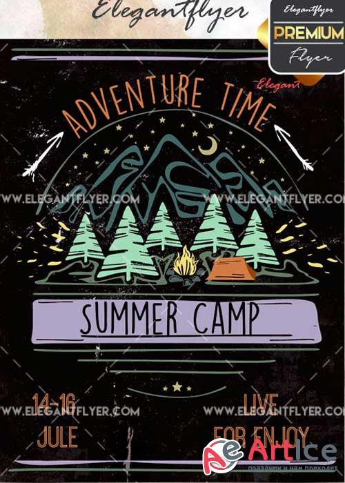 Summer Camp V8 Flyer PSD Template + Facebook Cover