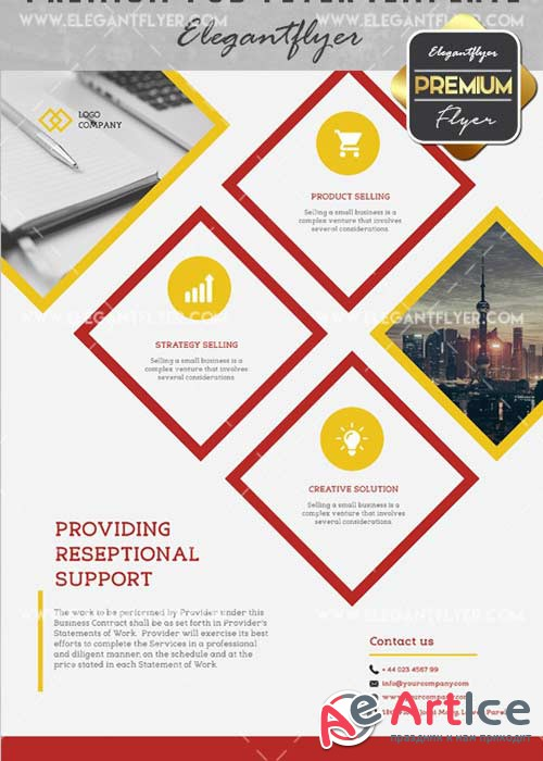 Providing Reseptional V15 Flyer PSD Template + Facebook Cover