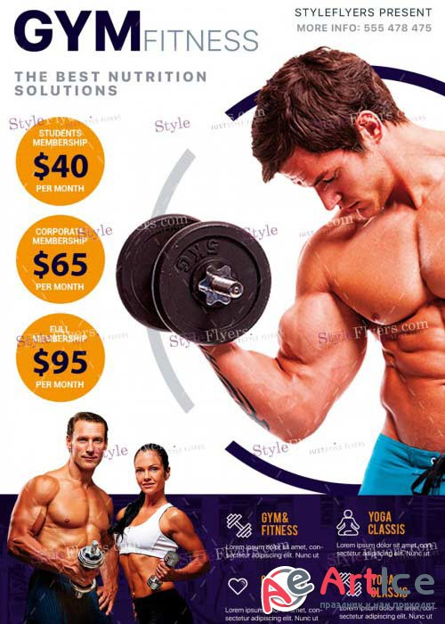Fitness V20 PSD Flyer Template