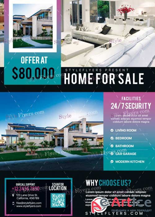 Real Estate V33 PSD Flyer Template