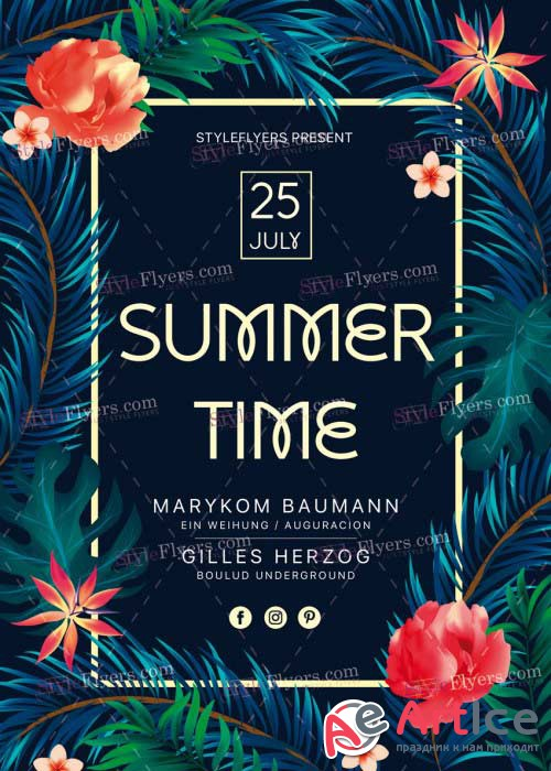 Summer Time V23 PSD Flyer Template