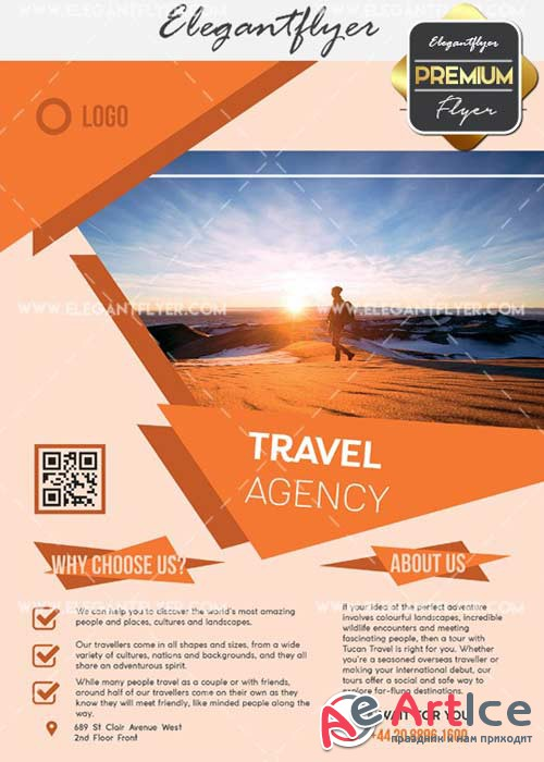 Travel Agency V30 Flyer PSD Template + Facebook Cover
