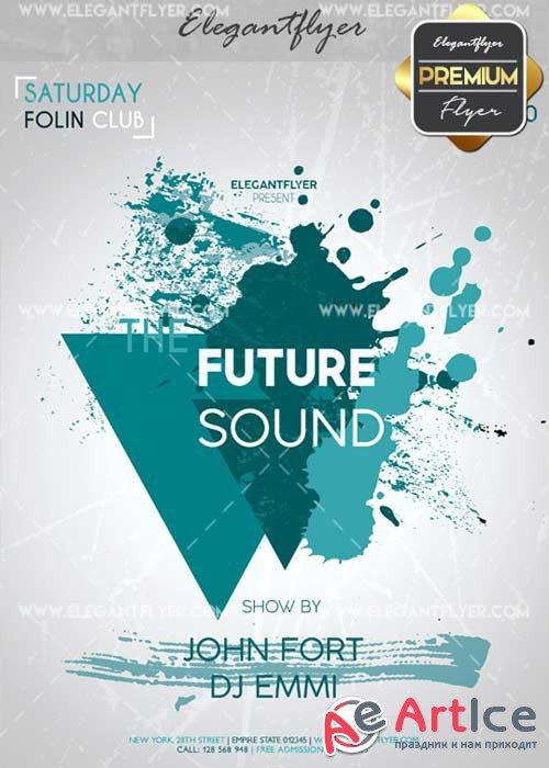 The Future Sound V33 Flyer PSD Template + Facebook Cover