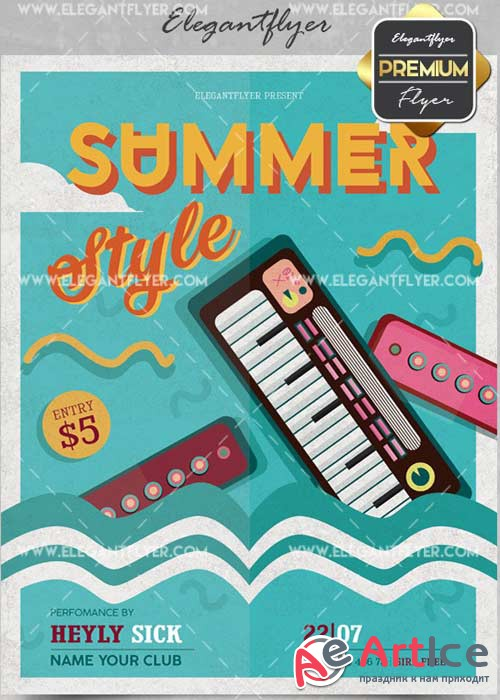 Summer Style V27 Flyer PSD Template + Facebook Cover