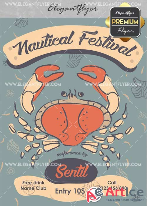 Nautical Festival V7 Flyer PSD Template + Facebook Cover