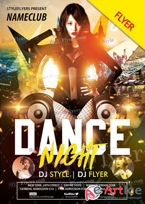 Dance night V36 Flyer PSD Template