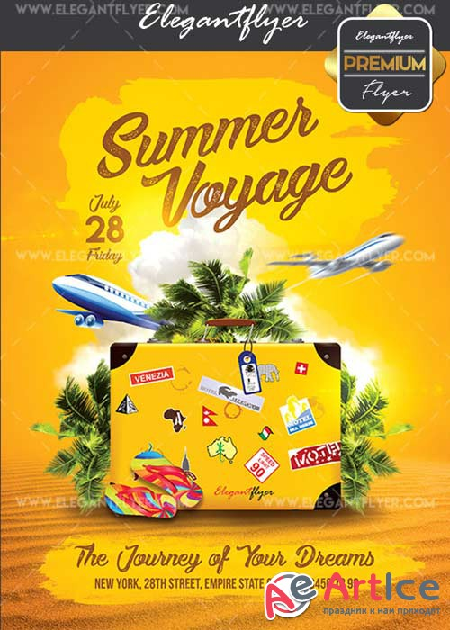 Voyage V25 Flyer PSD Template + Facebook Cover