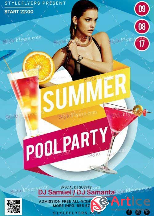 Summer Pool Party V40 PSD Flyer Template