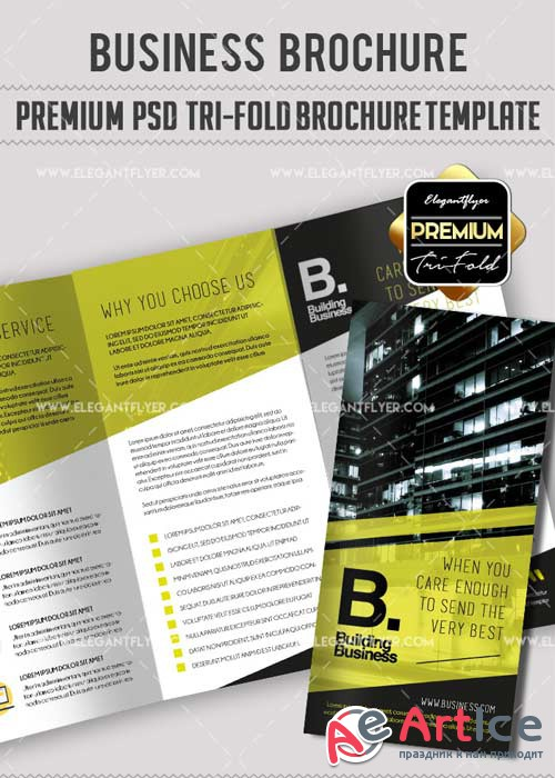 Business V29 Premium Tri-Fold PSD Brochure Template