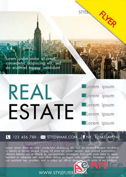 Real Estate V23 Flyer PSD
