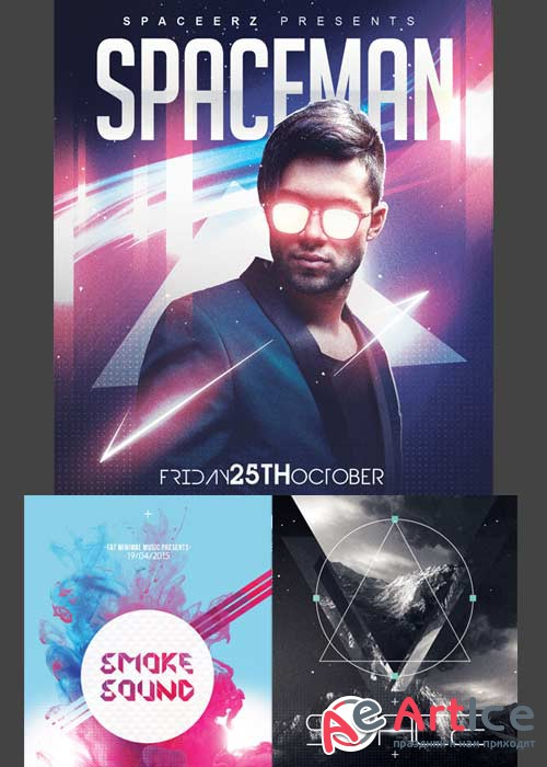 Space Flyer 3in1 V2 Flyer Template