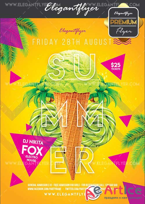 Delicious Summer V10 Flyer PSD Template + Facebook Cover