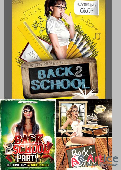 Back to School 3in1 V1 PSD Flyer Template