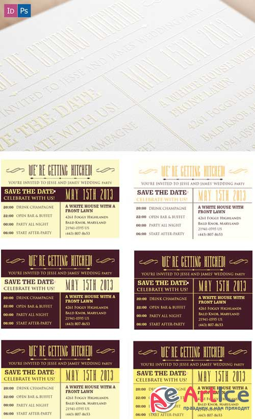 Superpremium Print Templates - Invitations