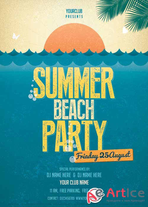 Summer Beach Party V42 Flyer PSD Template