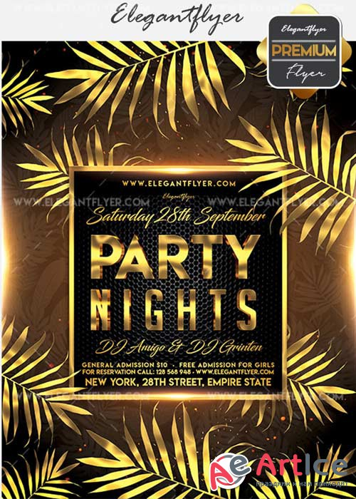 Party Nights V28 Flyer PSD Template + Facebook Cover