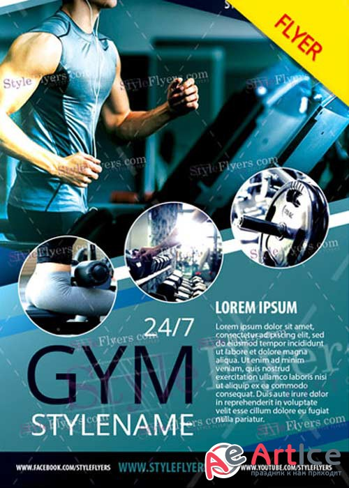 GYM V38 Flyer PSD Template