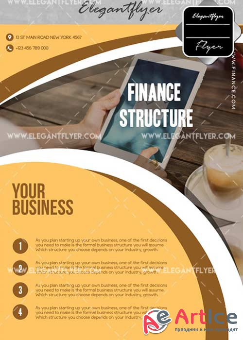Finance Structure V1 Flyer PSD Template + Facebook Cover