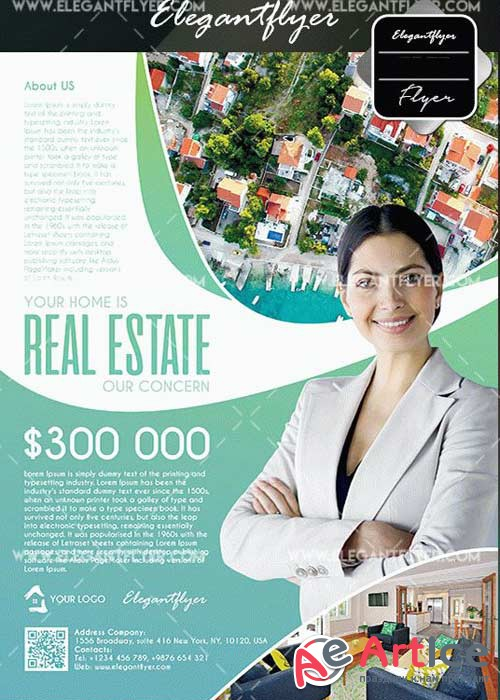 Real Estate V35 Flyers Template