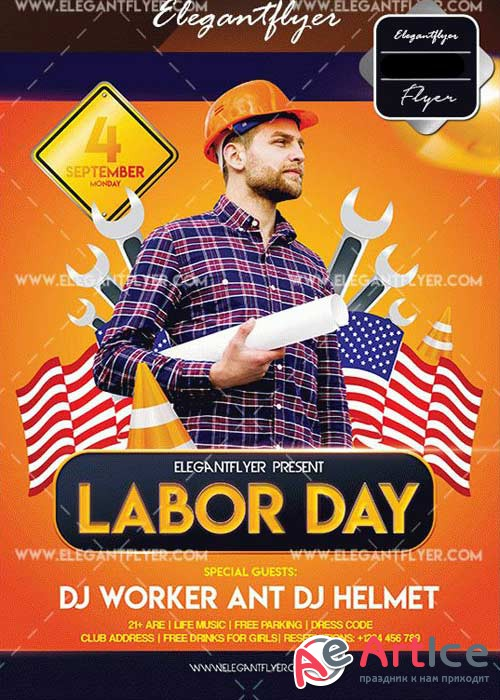 Labor Day V28 Flyer Template
