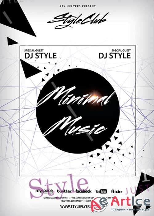 Minimal Music V18 PSD Flyer Template