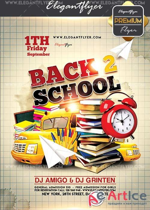 Back 2 School V41 Flyer PSD Template + Facebook Cover