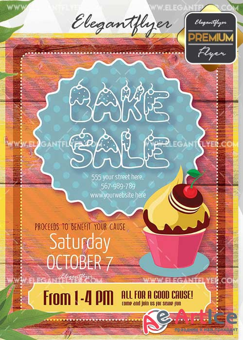 Bake Sale Flyer V5 Invitation Template
