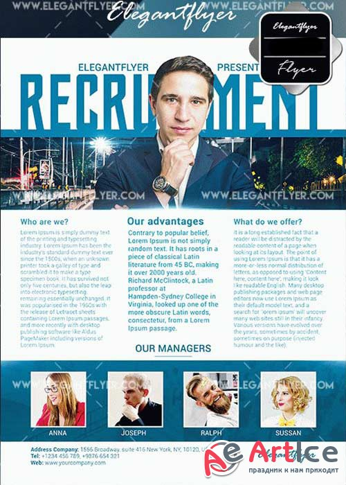 Recruitment V26 Flyer Template