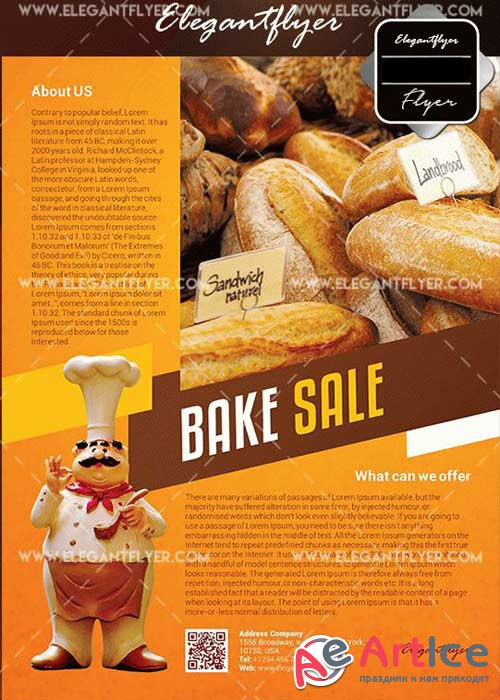 Bake Sale V38 Flyer Template in Photoshop + Facebook Cover