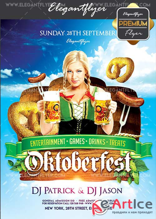 Oktoberfest V04 Flyer PSD Template + Facebook Cover
