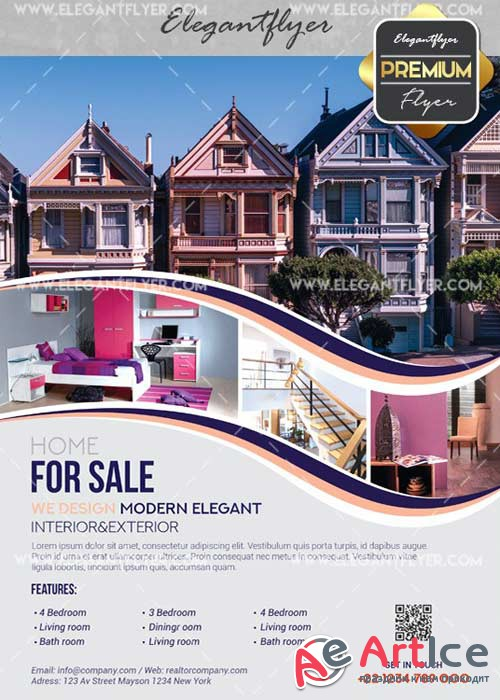 Realtor V3 Flyer PSD Template + Facebook Cover