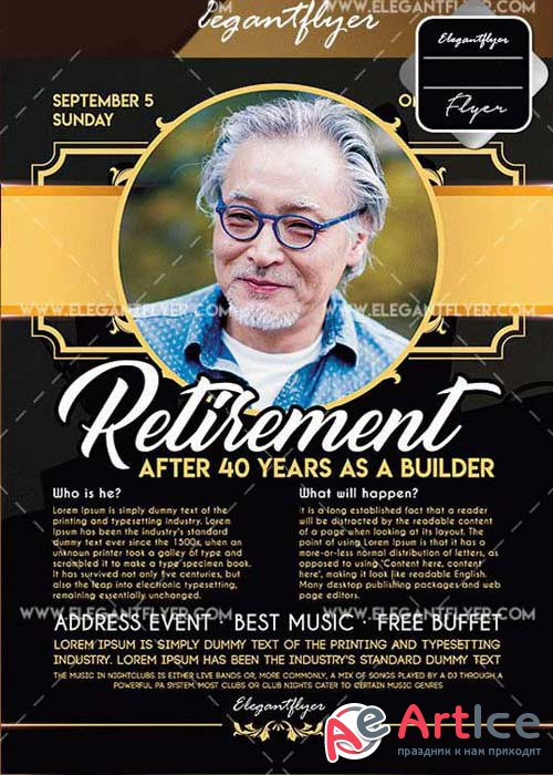Retirement Flyer V9 Template