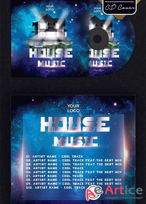 House Music V27 Premium CD Cover PSD Template