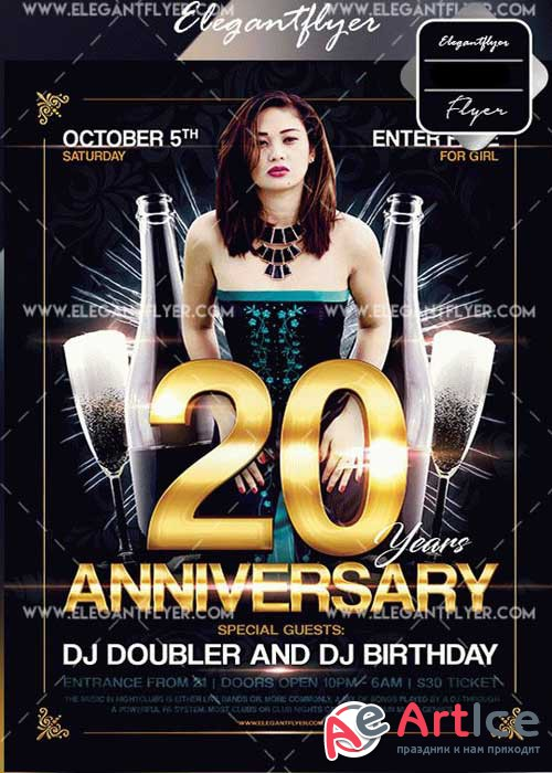 Anniversary V15 Flyers Template