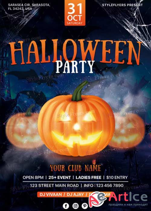 Halloween party 2017 V11 Flyer PSD Template