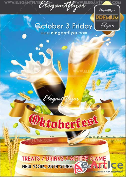 Oktoberfest 2017 V02 Flyer PSD Template + Facebook Cover