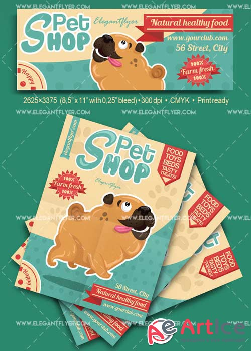 Pet Shop V11 Flyer PSD Template + Facebook Cover
