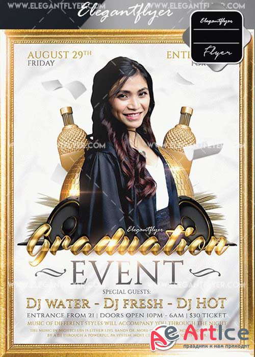 Graduation Event V15 Flyer Template